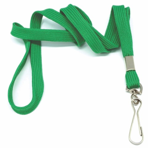 flat tubular lanyards with snap swivel hook green. Black Bedroom Furniture Sets. Home Design Ideas