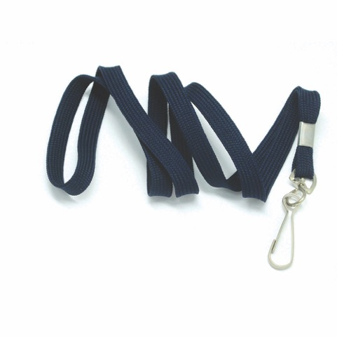 flat tubular lanyards with snap swivel hook navy bentley. Black Bedroom Furniture Sets. Home Design Ideas