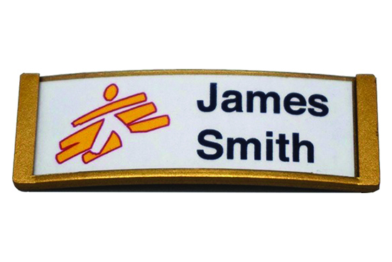 Curved Name Badge Gold